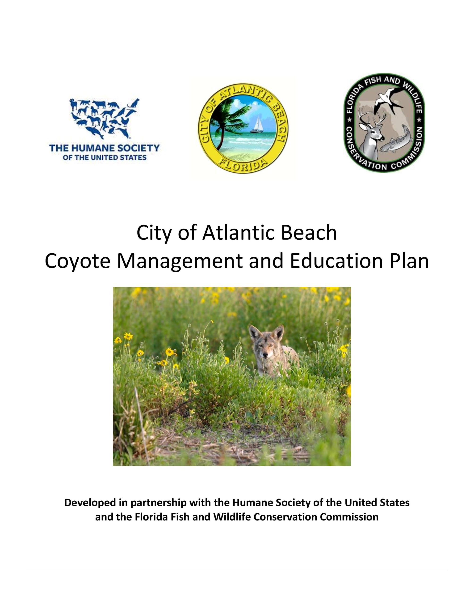 COAB Coyote Management and Education Plan 031919 COVER PAGE-page-001